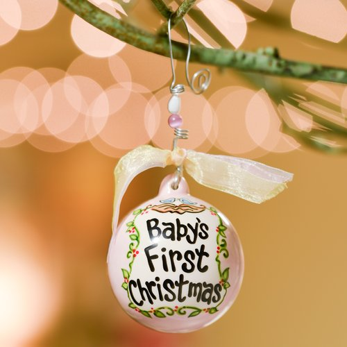 Glory Haus Babys First Birds In Nest Ball Ornament