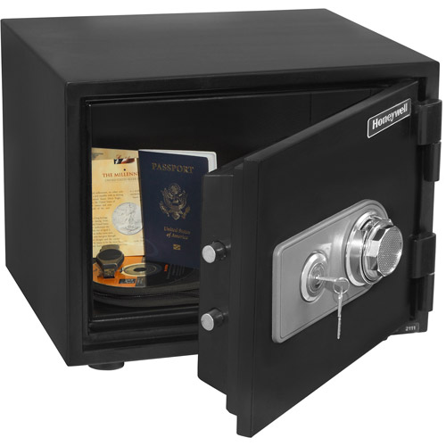 Honeywell .5 cu ft Water Resistant Steel Fire and Security Safe, 2101