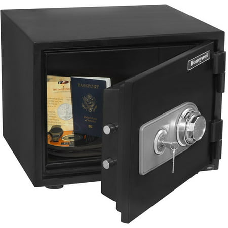 Honeywell .5 cu. ft. Steel Water and Fire-Resistant Safe with Electronic Lock, 2101