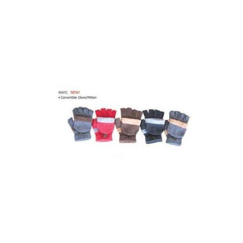 5 Assorted Convertible Glove W/Mitten (Pack of 60)