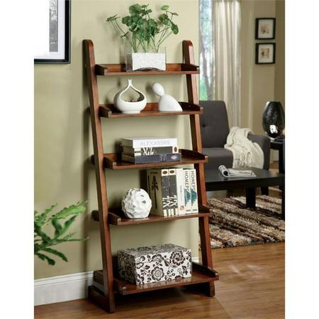 Furniture of America Carley 5 Shelf Bookcase in Vintage Oak ()