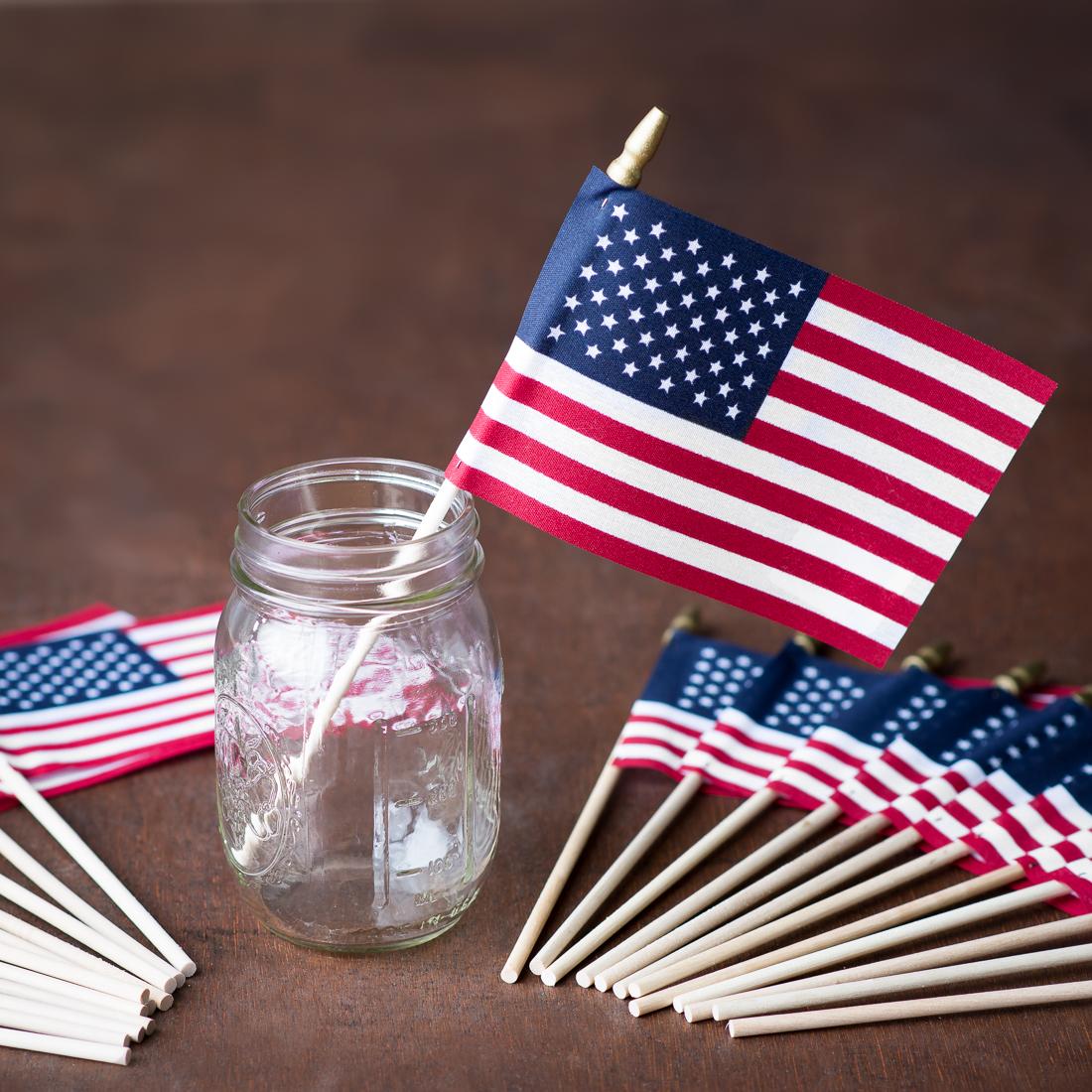 4 x 6 in. American Flags 24/pack