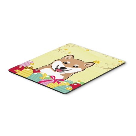 Carolines Treasures BB1907MP Shiba Inu Easter Egg Hunt Mouse Pad, Hot Pad or