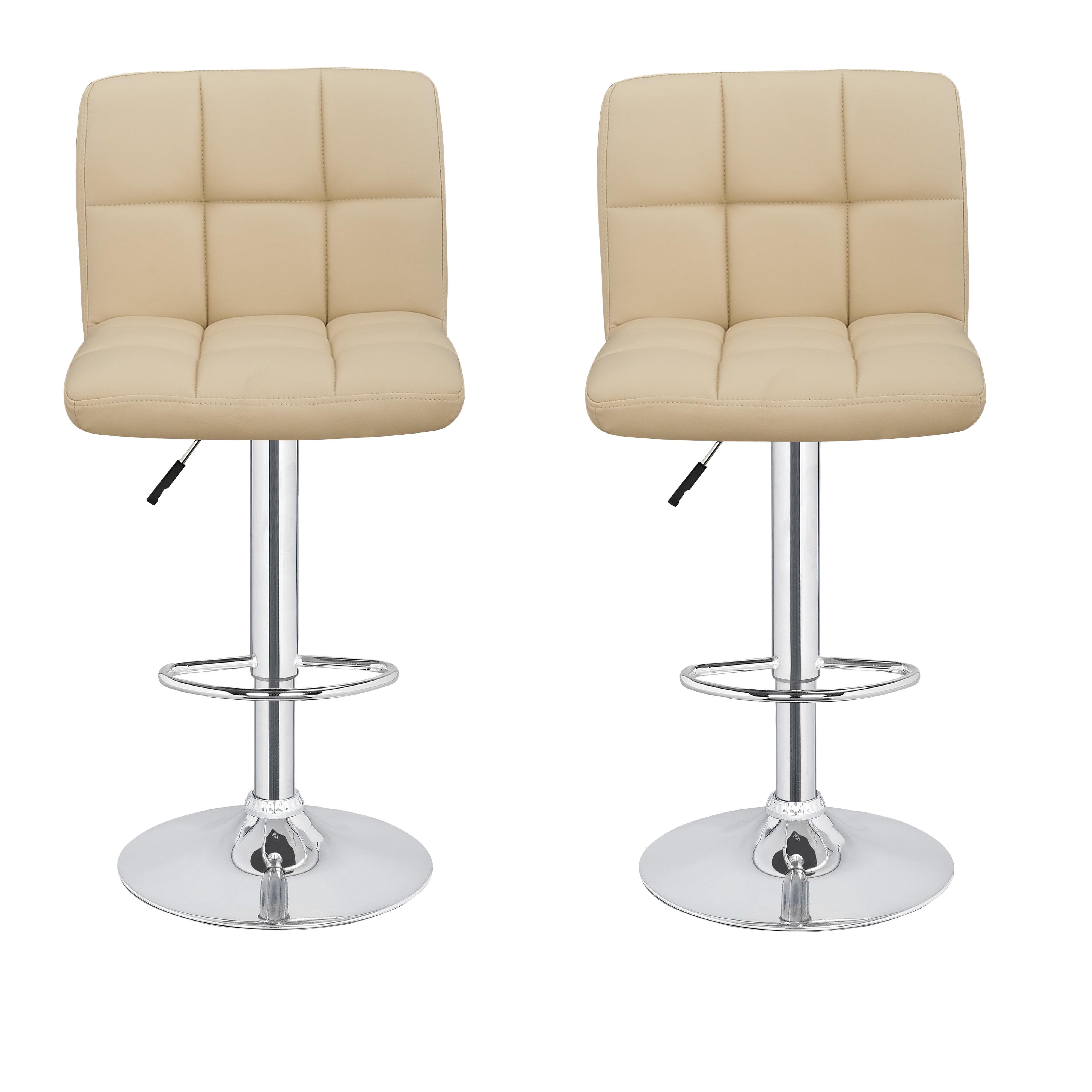 2 x homegear m2 adjustable swivel bar stool cream walmartcom