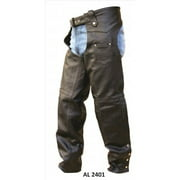 Men's Fashion 3XL Size Plain Lined Premium Buffalo Leather Chaps With Silver Hardware