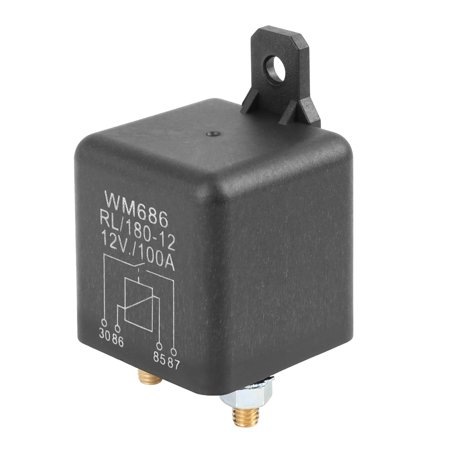 2 Pin DC 12V 100A Universal Relay Switch Power Starter Black for Car Automotive 2 Pin DC 12V 100A Universal Relay Switch Power Starter Black for Car AutomotiveDescription:This relay can be powered for long time, which is suitable for the automotive electrical appliances working for long time.Control the magnitude of the current and its on-off.100A high switching capability.100% Brand new and high quality.Light weight, not easy to damage or break.Easy to install, directly replace the old or damaged one.Specification:Pin Number: 2Operating Voltage: DC 12VAmps: 100AColor: BlackSize: 44x44x63mm / 1.73 x1.73 x2.48 (L*W*H)Material: Plastic, MetalNote:Please allow 1-2mm error due to manual measurement.Package Included:1 x Car Relay