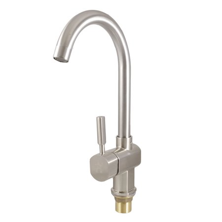Bathroom Sink Swan Neck Hot Cold Water Filter Faucet Tap w 2 Pcs ...