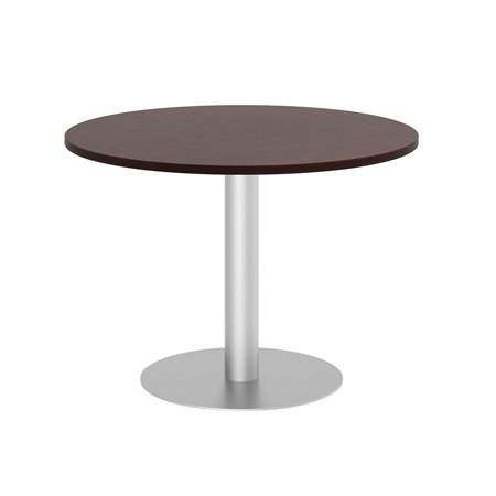 Bush Business Round Conference Table with Metal Disc Base in Cherry - image 2 de 7