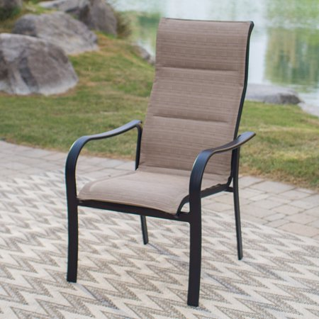 Coral Coast Wimberley Deluxe Padded Sling Dining Chair - Set of 4