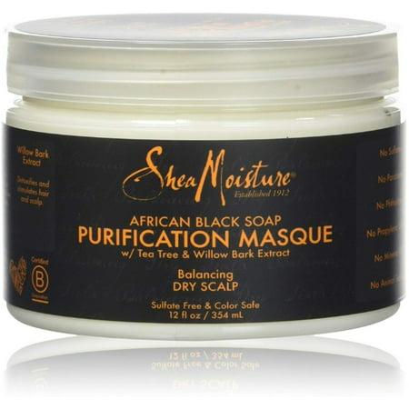Shea Moisture African Black Soap Purification Masque 12 oz (Pack of 4)