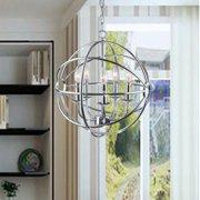The Lighting Store Benita Chrome Glam Orb 5-light Iron Chandelier