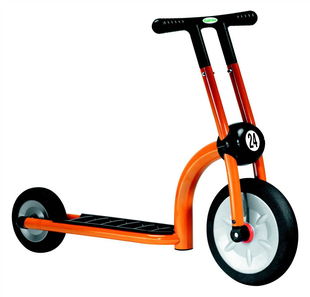 Kid's Orange Two-Wheel Scooter w Large Front Wheel