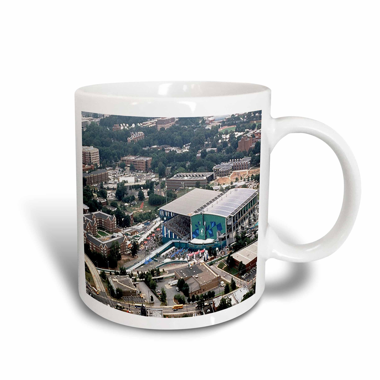 3dRose Summer Olympics Georgia Tech Aquatic Center 1996 , Ceramic Mug, 15-ounce