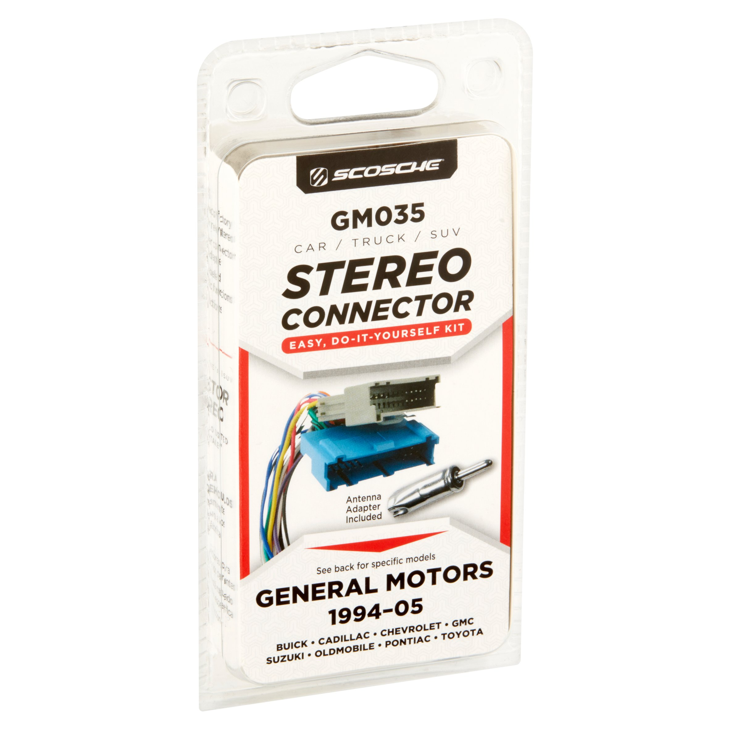scosche car stereo wiring connector 94 06 gm walmart com