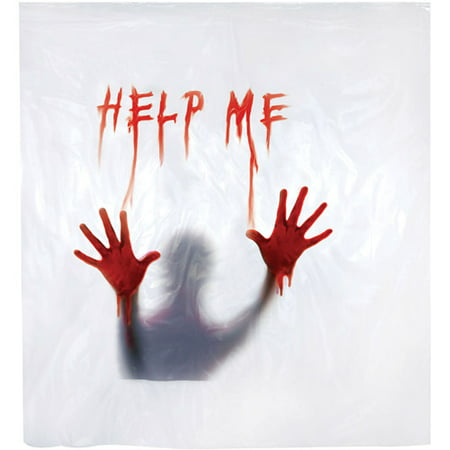5' Shower Curtain Help Me Halloween Decoration (Halloween Events Near Me)