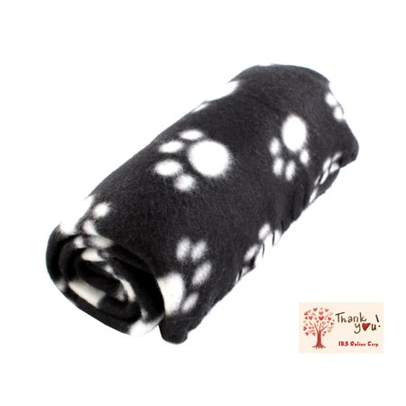 Soft Fleece Pet Dog Cat Puppy Kitten Warm Blanket Sleep Bed Mat with Paw Print