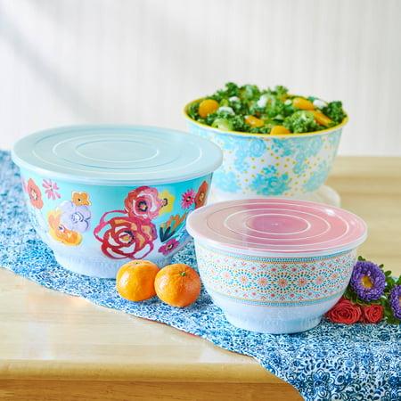 The Pioneer Woman Flea Market Floral Bowl Set, 6 Piece