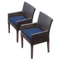 TK Classics Barbados Wicker Patio Dining Arm Chairs