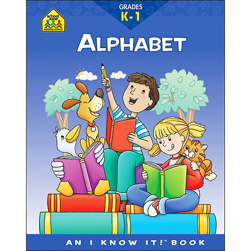 School Zone Curriculum Workbooks, Alphabet, Grades K-1