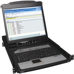 """Tripp Lite 16-Port IP KVM Switch Rack Console w/ 19"""" LCD 1U - 16 Computer(s) - 19"""" LCD - 1280 x 1024PS/2 PortUSBVGA - Keyboard - 1U High 1U 19IN LCD KEYBOARD PS2 USB OSD"""