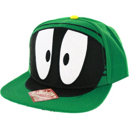 4791f429cc6c9 Bioworld - Looney Tunes Marvin the Martian Big Face Snapback Baseball Cap -  Walmart.com