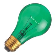 Satco 06081 - 25A/TG S6081 Standard Transparent Colored Light Bulb