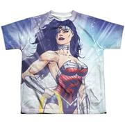Jla - Warrior Goddess (Front/Back Print) - Youth Short Sleeve Shirt - Medium