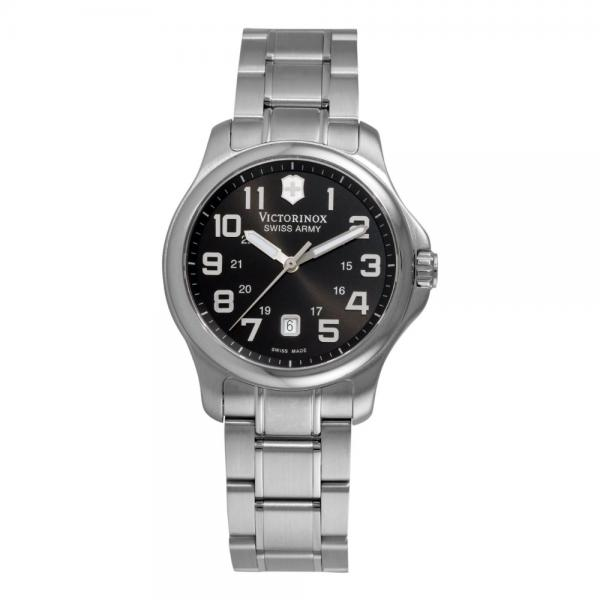 Swiss Army 241368 Women's Officer's Stainless Steel Bracelet Black Dial Watch