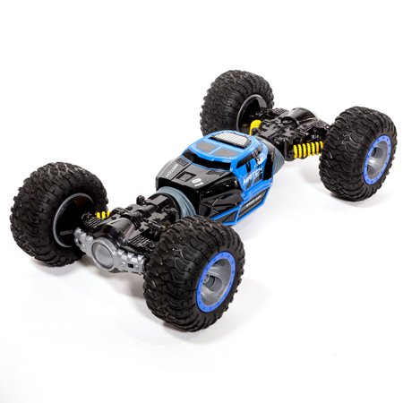 Ihubdeal Leopard King Double Sided Flip RC Stunt Car with One-Click Conversion 2.4G Remote Control