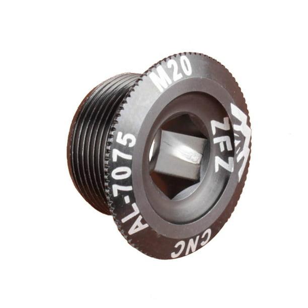 M15//M18//M20 MTB Crankset Crank Cover Screw Cap Aluminum BMX Road Bike Fitting