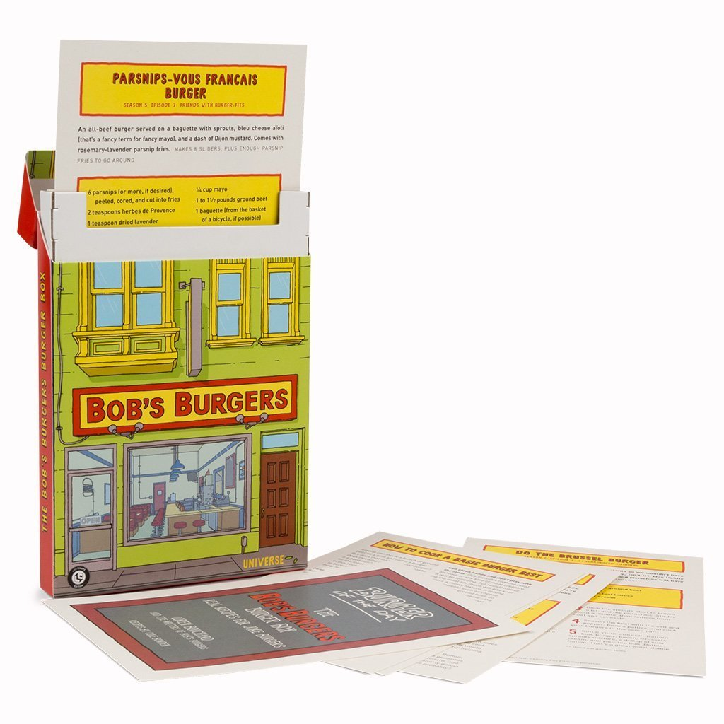 The Bob's Burgers Burger Box Recipe Card Set Exclusive Collectible