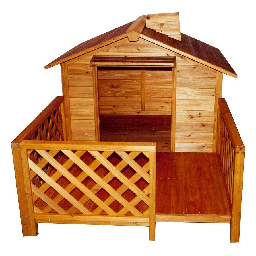 Costway Wooden Puppy Pet Dog House Wood Room Inoutdoor Raised Roof