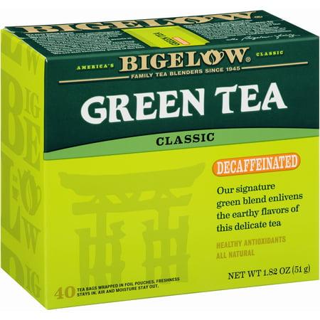 (4 Boxes) Bigelow Tea Decaf Green Tea, 40 Ct