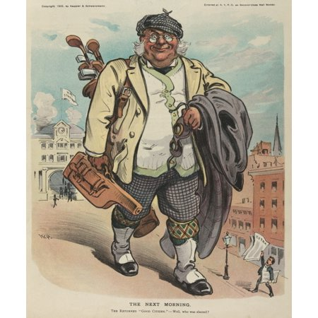 Puck Magazine 1905 The Next Morning Golfer Poster Print by  Udo Keppler