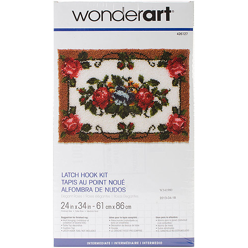 "Wonderart Latch Hook Kit, 24"" x 34"""