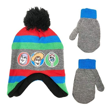 Disney Toy Story Toddler Boys Winter Hat and Mittens Set, Age 2-4 ()