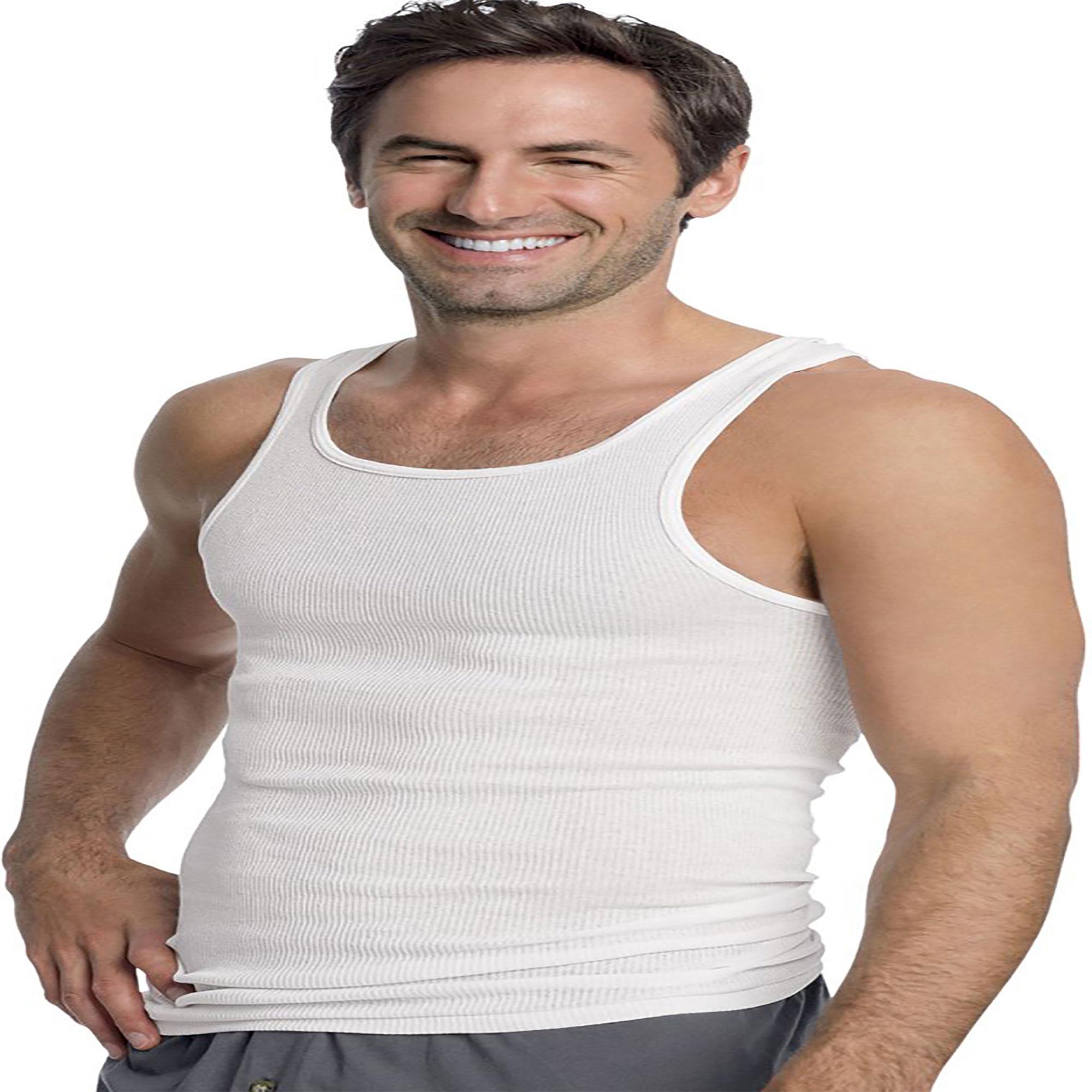 Hanes Mens White A-Shirt 3-Pack 372
