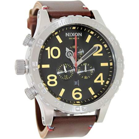 Nixon Men's 51-30 Chrono Leather A124019 Black Leather Quartz Fashion Watch