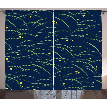 Japanese Curtains 2 Panels Set, Tsuyushiba Japanese Traditional Pattern  Ethnic Culture Folk Boho Asian, Window Drapes for Living Room Bedroom, 108W  X ...