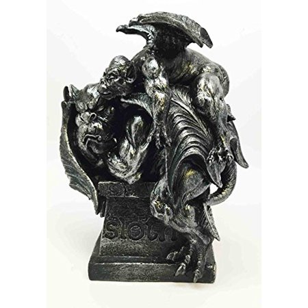 GOTHIC GARGOYLE OF LAZY SLOTH STATUE SCULPTURE SEVEN DEADLY SINS COLLECTION