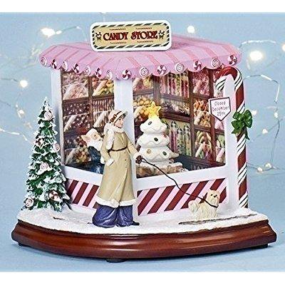 christmas decoration north pole candy store lighted musical and animated decoration - North Pole Christmas Decorations
