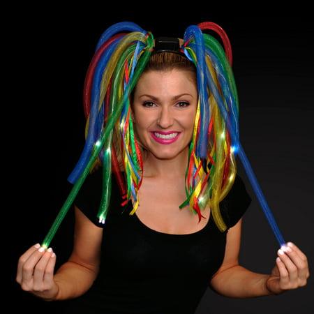 FlashingBlinkyLights LED Light Up Noodle Headbands - Lei Headband