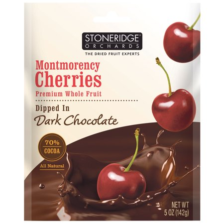 Stoneridge Orchards  Montmorency Cherries  Dipped In Dark Chocolate  5 Oz  Pack Of 2