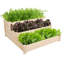 Deals on Yaheetech 3 Tier Wooden Elevated Raised Garden Bed Planter