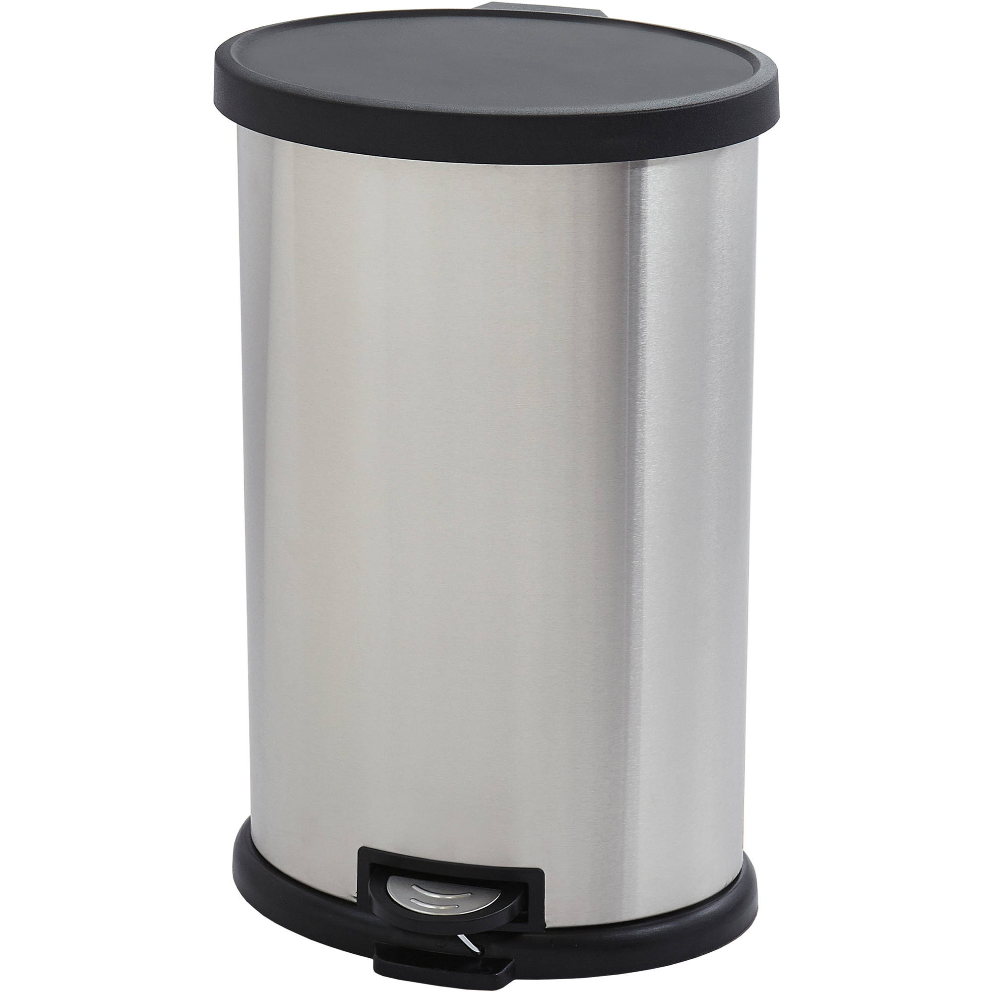 better homes and gardens 30-liter oval trashcan, stainless steel