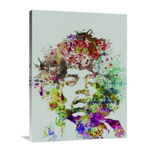 Naxart 'Hendrix Watercolor' Graphic Art Print on Canvas