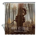 Where The Wild Things Are Wild Thing Tree Shower Curtain White 71X74