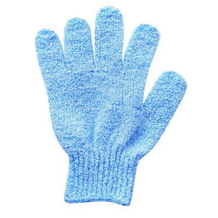 2Pair Bath scrub mitt gloves massage scrubber shower wash skin spa shower tool