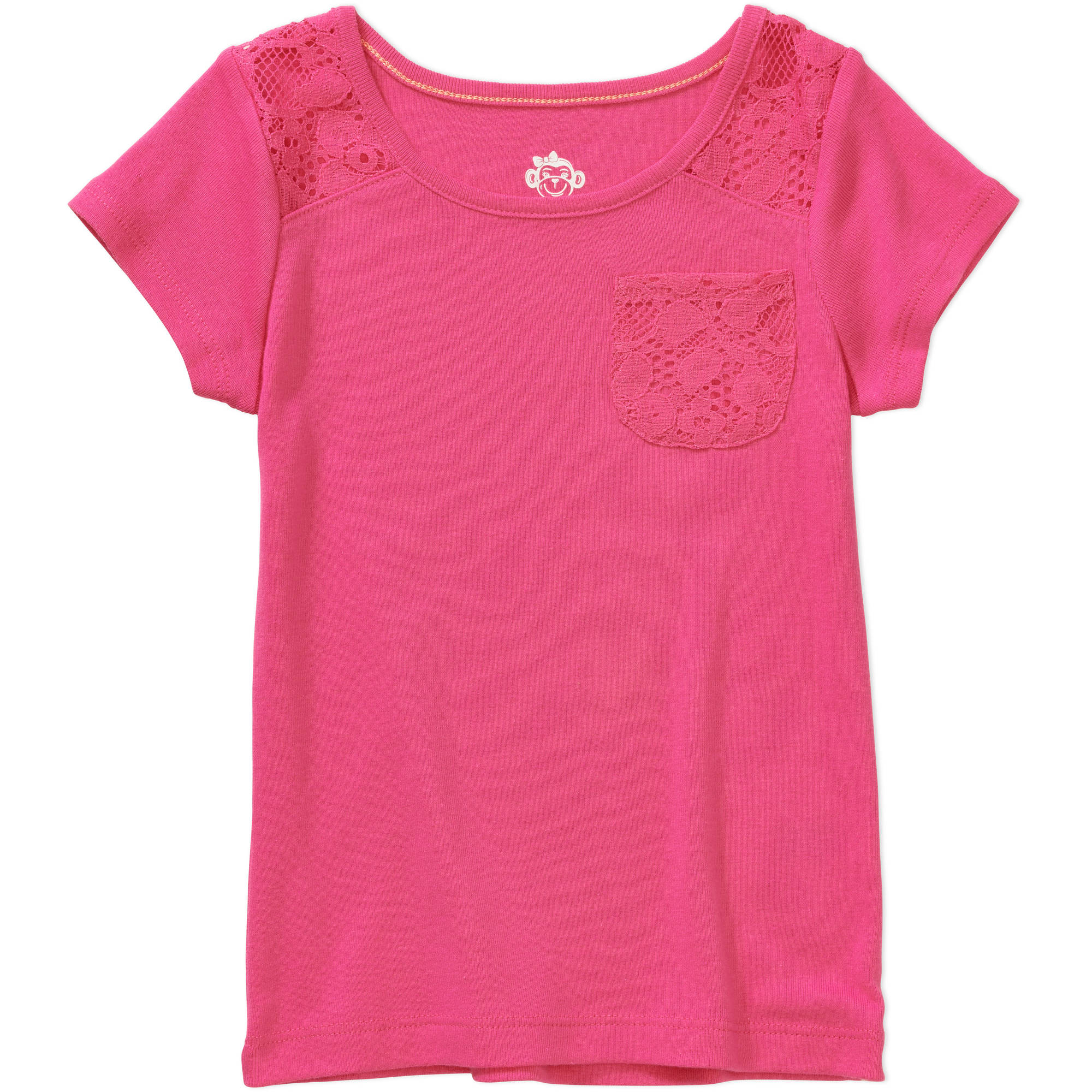 365 Kids from Garanimals Girls' Solid Lace Tee