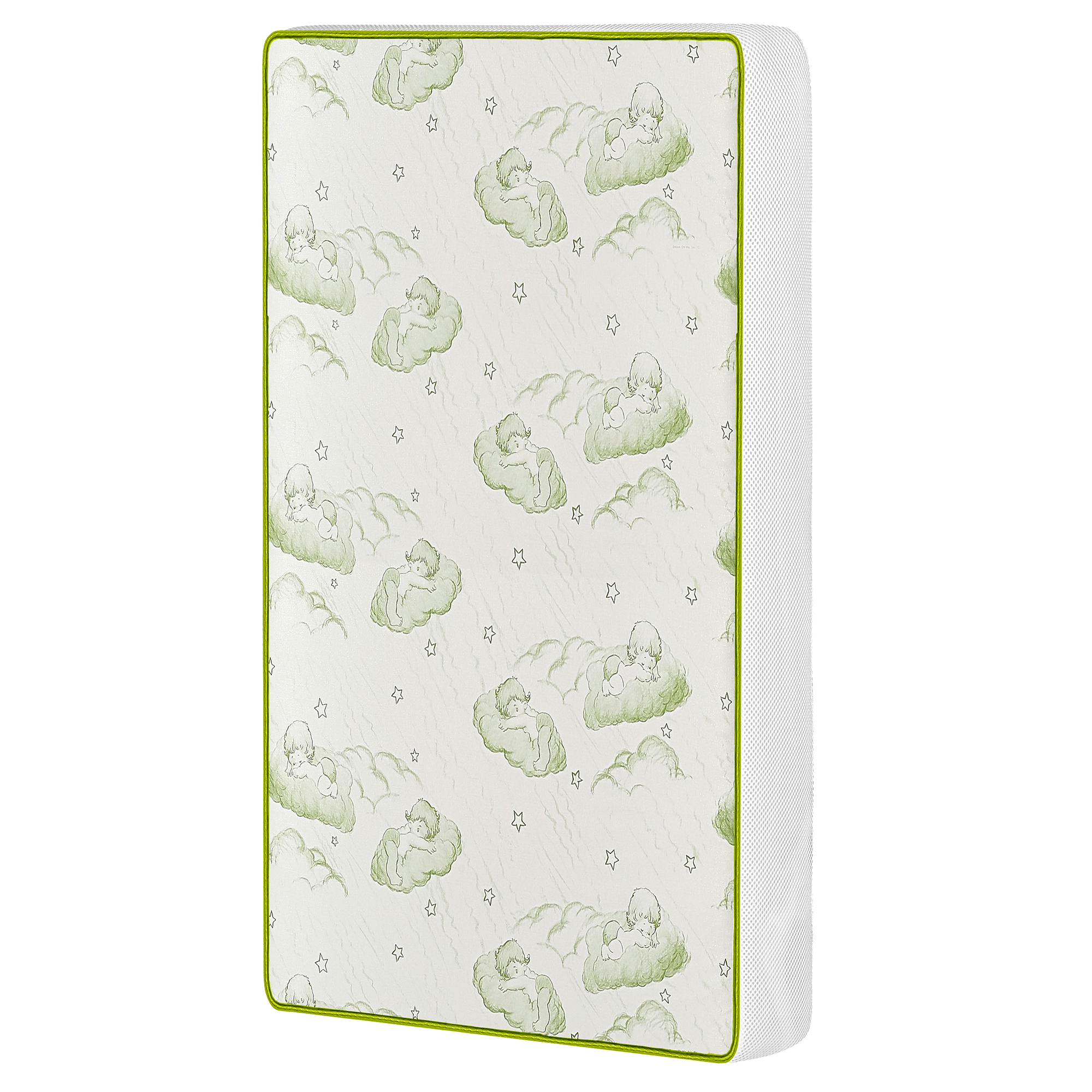 Dream On Me EvenFlo Baby Suite Selection 300 Breathable Two-Sided Mattress Green/White